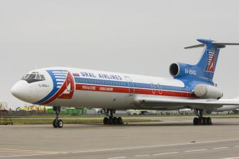 обоя ту- 154, авиация, пассажирские самолёты, самолёт, ту-, 154