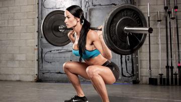 обоя спорт, - другое, фитнес, фон, девушка, взгляд