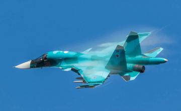 обоя su-34, авиация, боевые самолёты, истреьитель-бомбардировщик