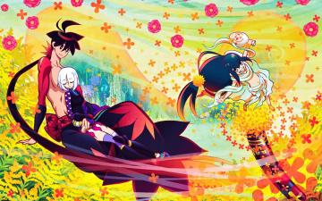 обоя аниме, katanagatari, персонажи