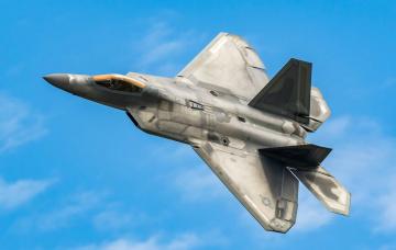 обоя f-22a, авиация, боевые самолёты, истреьитель