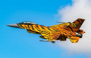 обоя f-16am fa-77, авиация, боевые самолёты, истреьитель