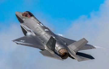обоя f-35a, авиация, боевые самолёты, истреьитель