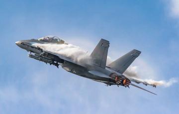 обоя fa-18f, авиация, боевые самолёты, истреьитель
