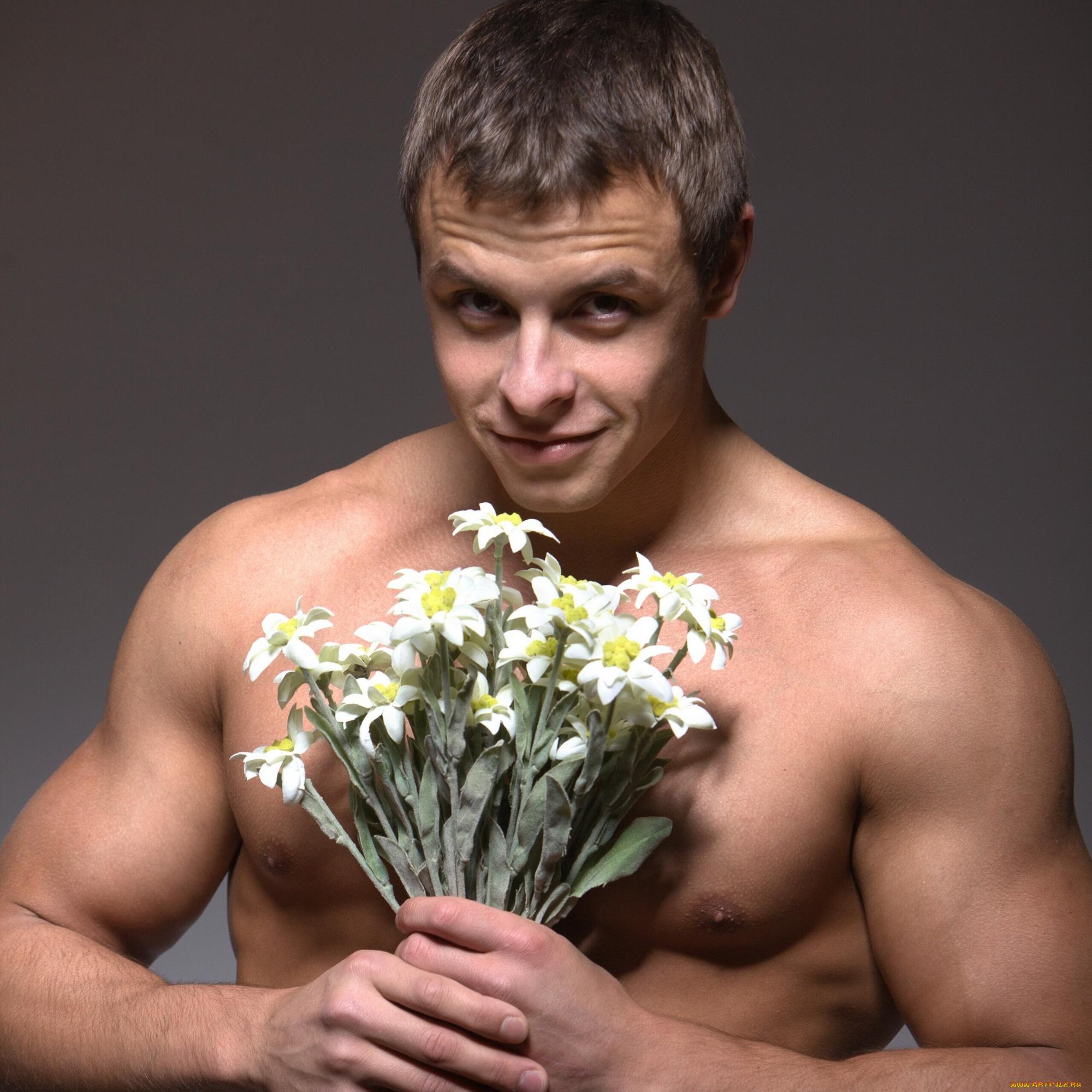 Смешные картинки мужчины с цветами