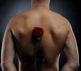 Картинка мужчины -+unsort спина цветок роза