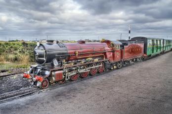 Картинка техника паровозы рельсы паровоз состав дорога железная