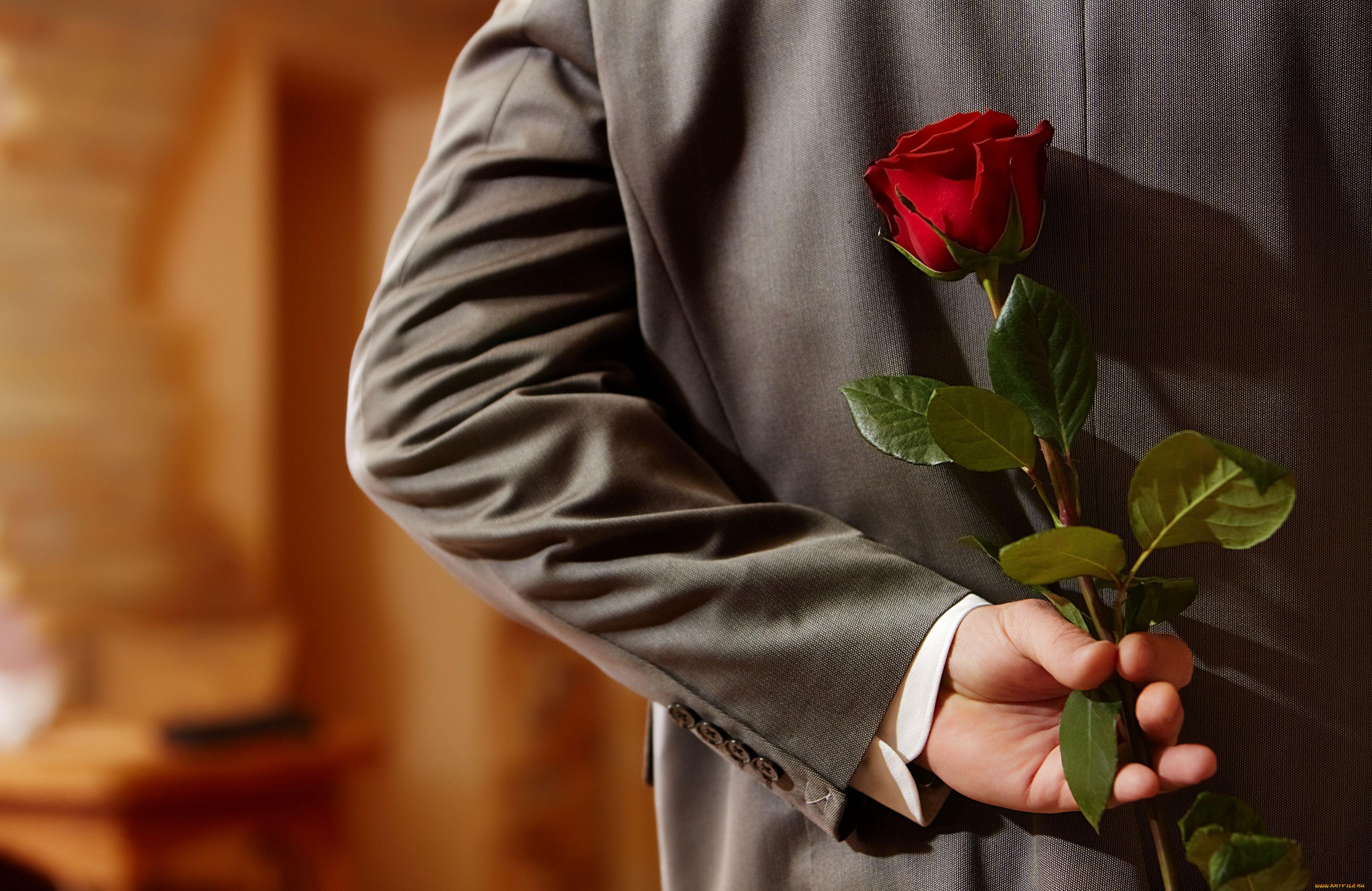 Картинки роза в руке парня