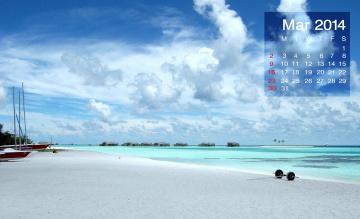 обоя календари, природа, пляж