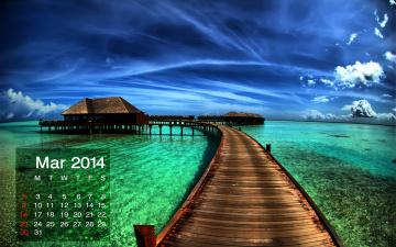 обоя календари, природа, море