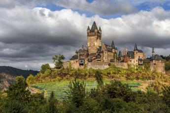 обоя города, - дворцы,  замки,  крепости, холм