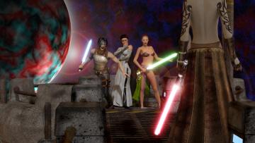 Картинка 3д+графика fantasy+ фантазия оружие мужчина девушки