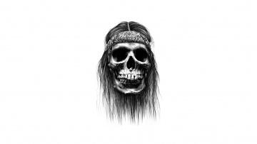 Картинка рисованное минимализм череп фон