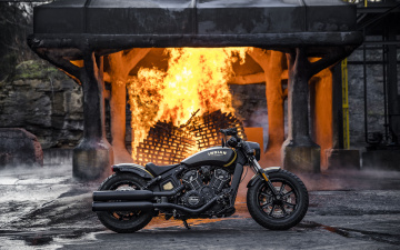 обоя indian scout bobber , 2018,  jack daniels limited edition, мотоциклы, indian, байк, jack, daniels, limited, edition, мотоцикл, scout, bobber, 4k, тюнинг