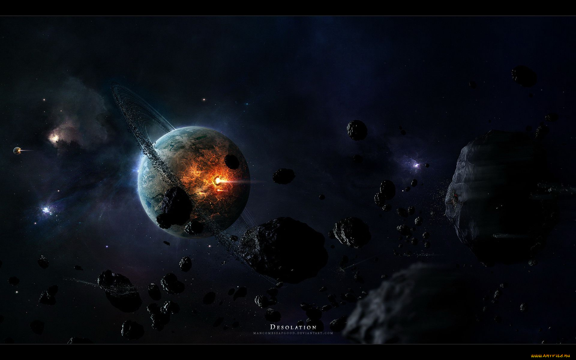 asteroid planet game - HD 2560×1440