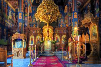 Картинка интерьер убранство роспись храма крит греция