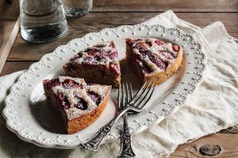 Картинка еда пироги пирог блюдо вилки