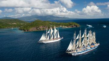 Картинка парусники star clipper royal корабли остров
