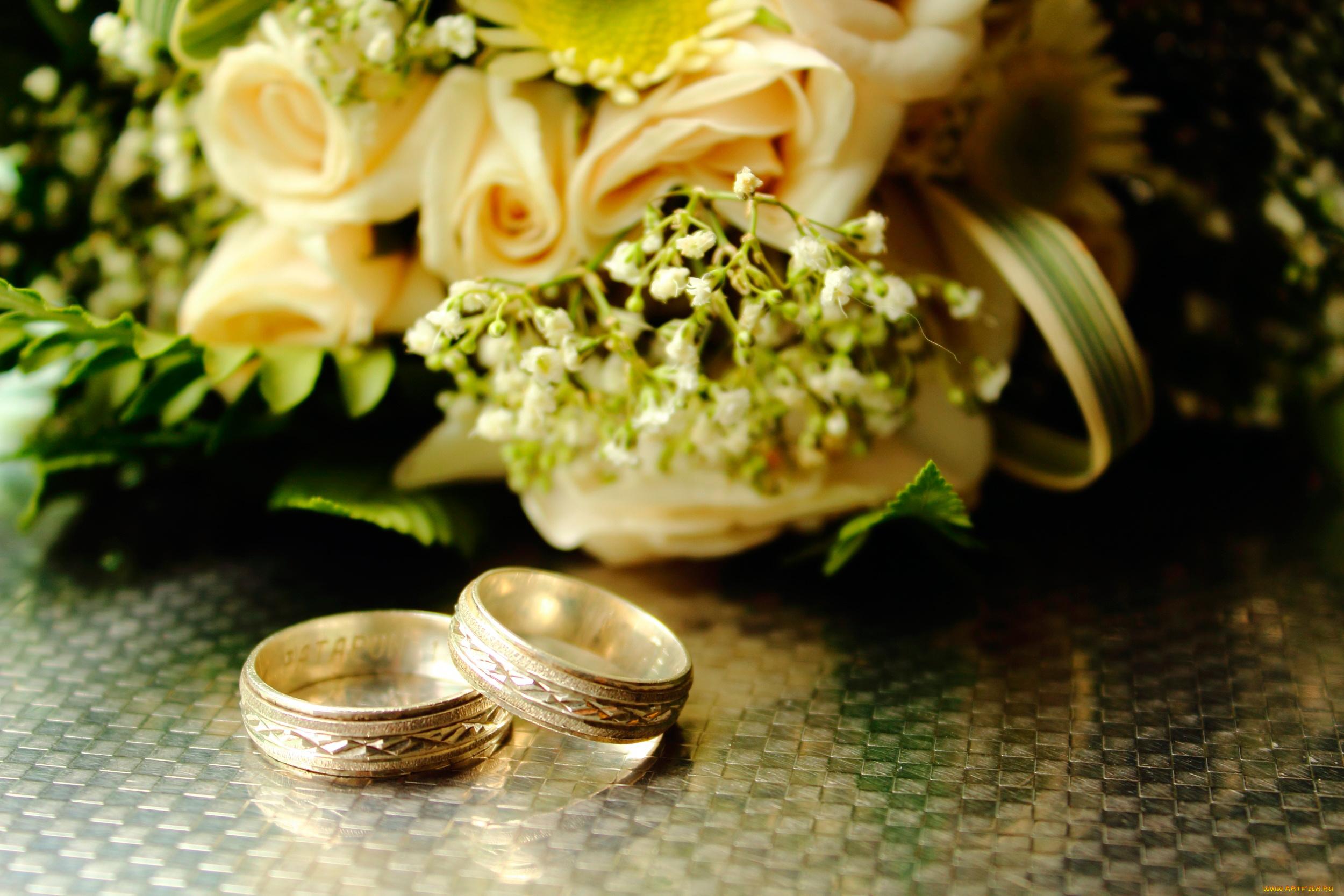 Открытки со свадебными букетами, открытка