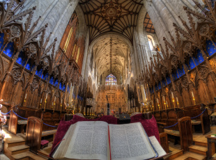 Картинка the+choir+of+winchester+cathedral интерьер убранство +роспись+храма роспись храм