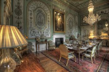 обоя интерьер, дворцы,  музеи, картины, посуда, стол, зал