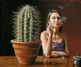 Картинка evert thielen рисованные сигарета кактус