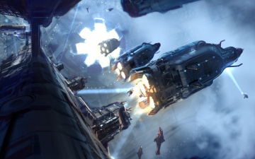 Картинка halo видео игры 4 космос корабли