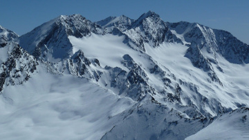 Картинка природа горы снег вершины