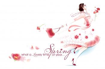 обоя праздничные, международный женский день - 8 марта, девушка, весна, платье, сумка, 8, марта