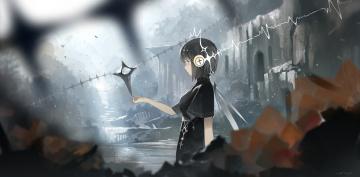 обоя аниме, оружие,  техника,  технологии, yuushouku