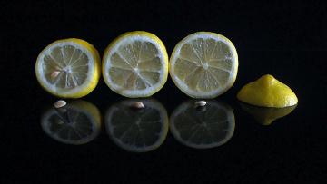 обоя еда, цитрусы, лимон, дольки
