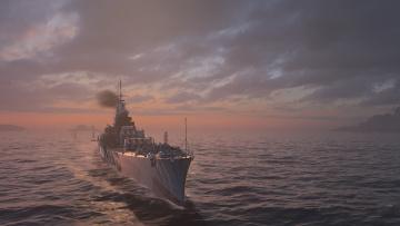 Картинка видео+игры world+of+warships корабль море