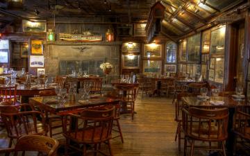 обоя интерьер, кафе,  рестораны,  отели, морское, фонари, макет, картины