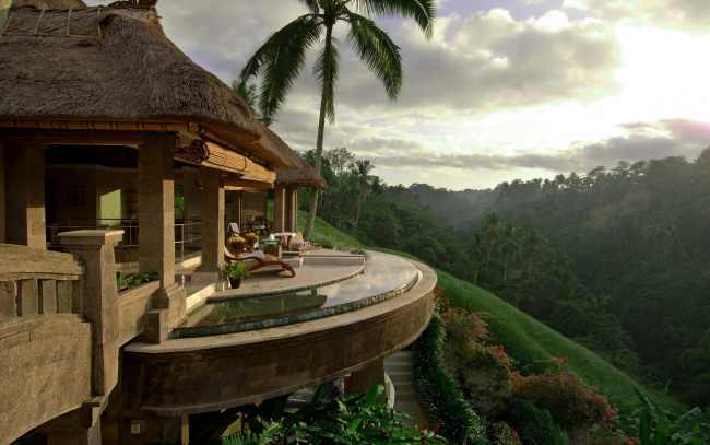 Обои картинки фото интерьер, веранды,  террасы,  балконы, джунгли, дом, терраса, обзор