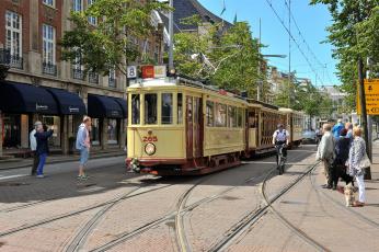 Картинка техника трамваи город трамвай рельсы улица