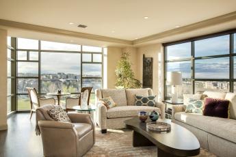 обоя интерьер, гостиная, окна, стол, стиль, кресло, диван, дизайн