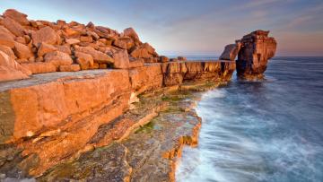 Картинка природа побережье вода камни
