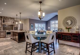 обоя интерьер, кухня, мебель, комната