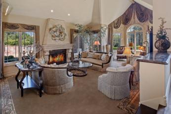 обоя интерьер, гостиная, дизайн, цветы, оформление, мебель