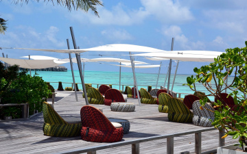 обоя интерьер, веранды,  террасы,  балконы, maldives, valassaru, resort