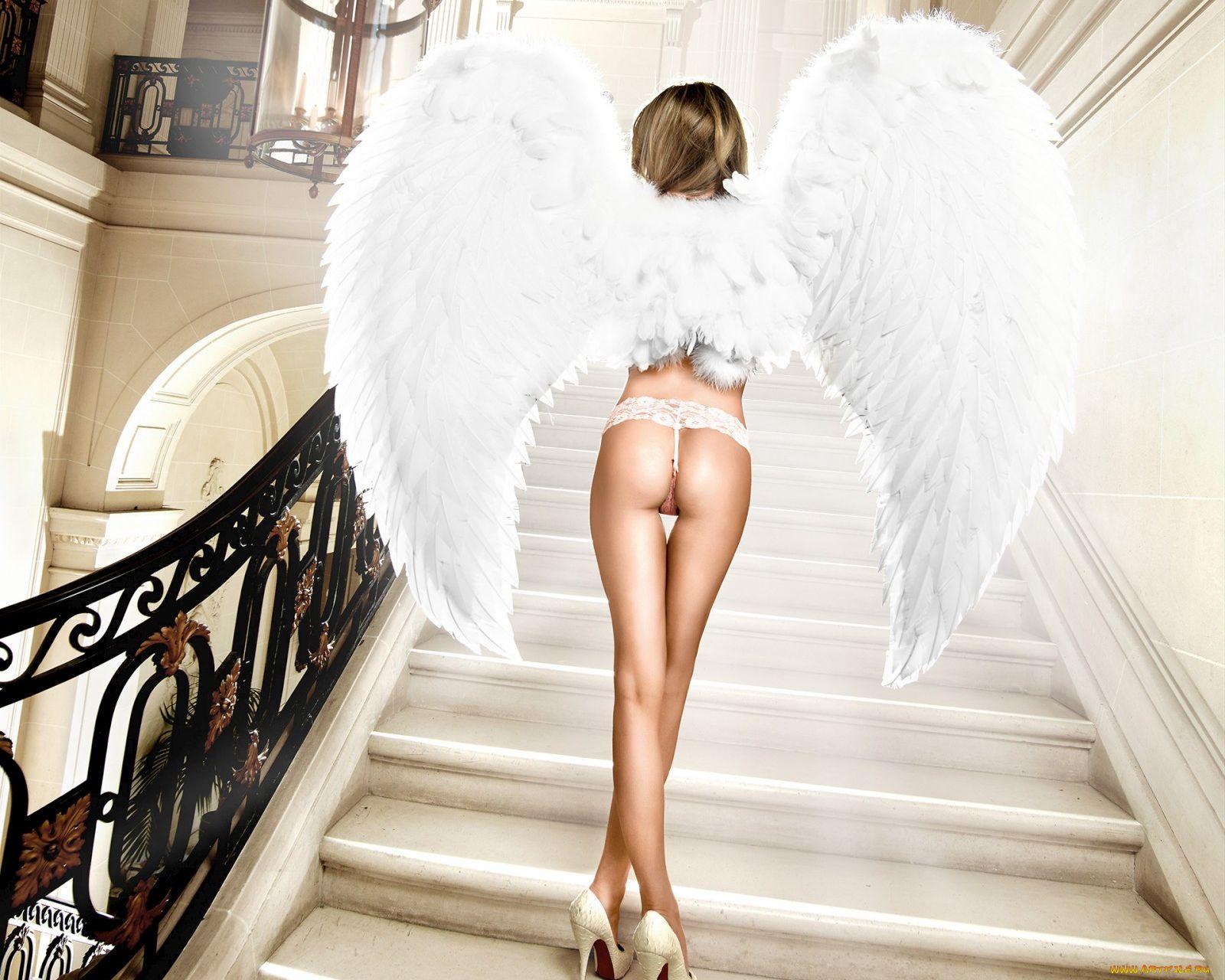 Порнографические картинки девушка ангел, порно лесбиянки приучают подругу