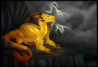 Картинка рисованные животные сказочные мифические дракон