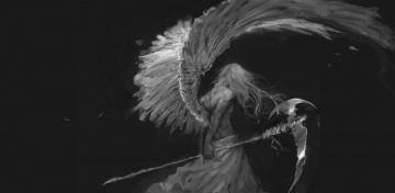 обоя фэнтези, ангелы, ангел, смерти, мужчина, коса, готика, by, bloody-little-turd