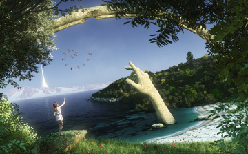 Картинка 3д графика fantasy фантазия рука