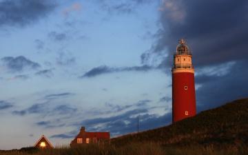 Картинка природа маяки пейзаж маяк небо закат свет