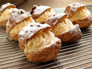 Картинка еда пирожные +кексы +печенье крем заварные