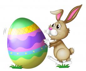 обоя праздничные, пасха, кролик, яйца