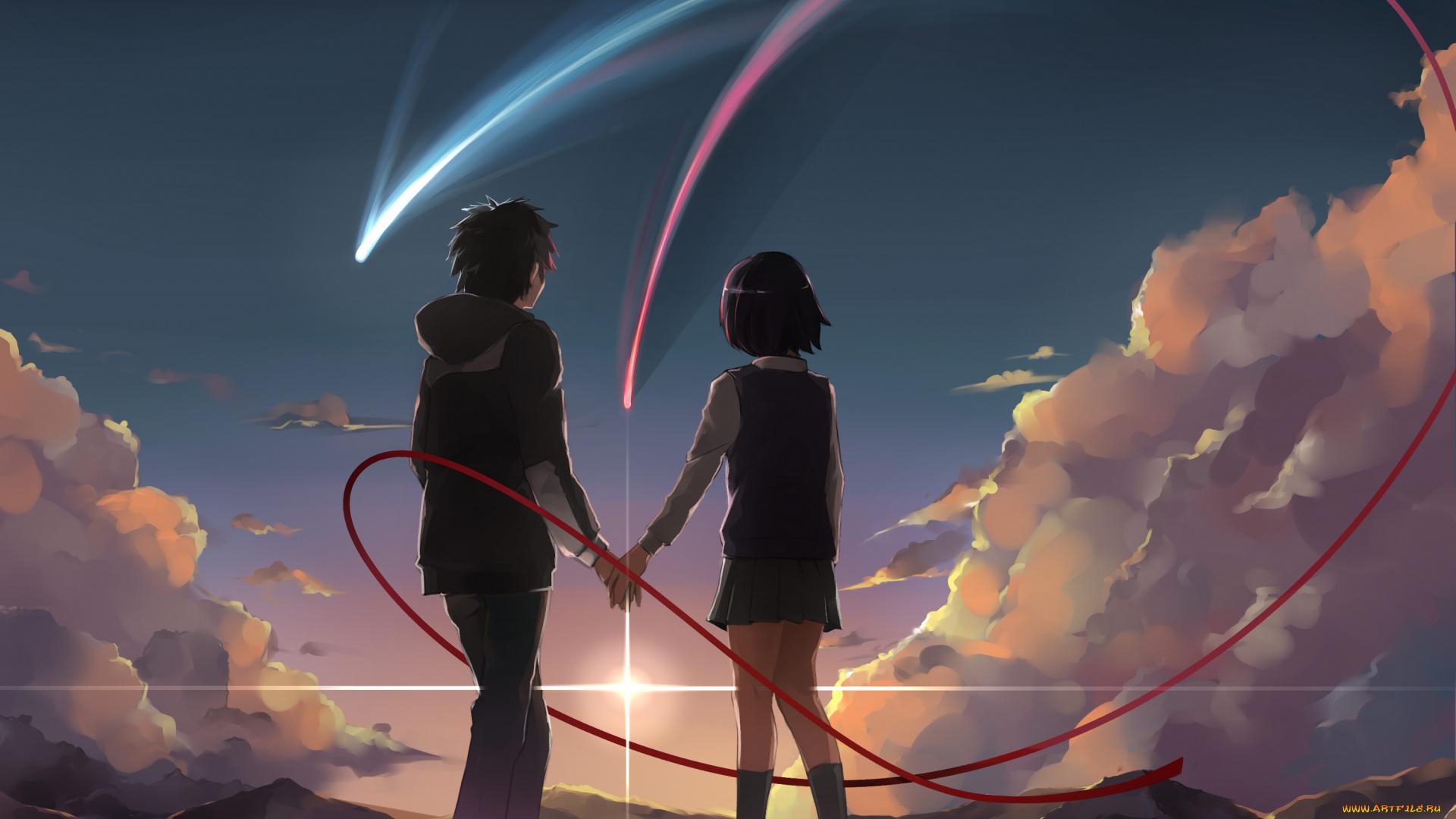 Картинки для пары на фон телефона аниме