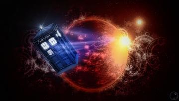 обоя фэнтези, иные миры,  иные времена, космос, пространство, тардис, планета, doctor, who, доктор, кто, tardis, будка, звезды