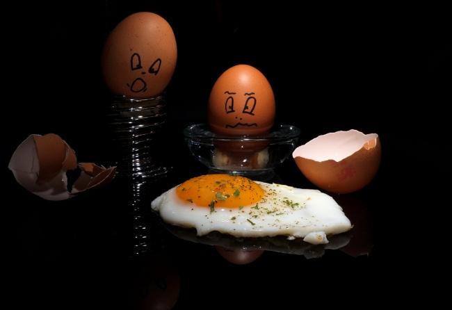 Обои картинки фото юмор и приколы, яичница